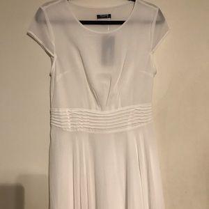 White floor length dress